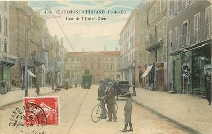"""CPA FRANCE 63 """"Clermont Ferrand, rue de l'Hôtel Dieu"""""""