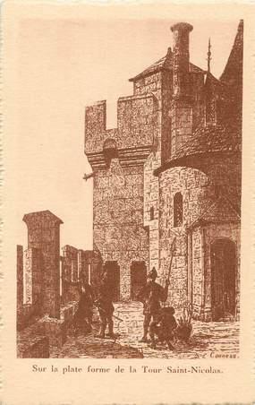 """/ CPA FRANCE 17 """"La Rochelle, sur la plate forme de la tour Saint Nicolas"""""""