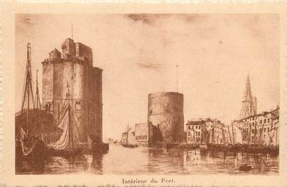 """/ CPA FRANCE 17 """"La Rochelle, intérieur du port"""""""