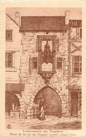 """/ CPA FRANCE 17 """"La Rochelle, commanderie des templiers, porte de la rue du temple"""""""
