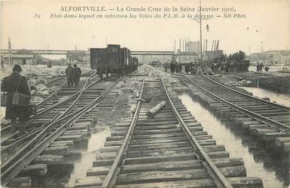 """/ CPA FRANCE 94 """"Alfortville janvier 1910"""" / INONDATION"""