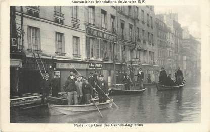 """/ CPA FRANCE 75004 """"Paris, le quai des grands Augustins"""" / INONDATION"""