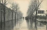 """94 Val De Marne / CPA FRANCE 94 """"Maison Alfort, la rue de la gare"""" / INONDATION / TEXTE"""