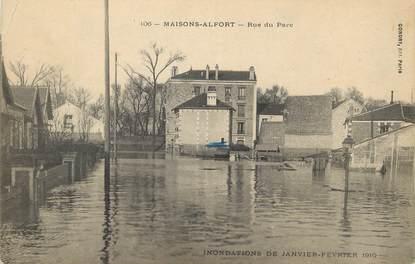 """/ CPA FRANCE 94 """"Maison Alfort, rue du parc"""" / INONDATION / TEXTE"""
