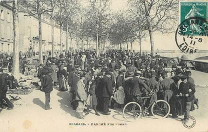 """/ CPA FRANCE 45 """"Orléans, marché aux puces"""""""