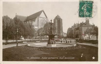 "/ CPSM FRANCE 45 ""Orléans, place Gambetta, rue Bannier"""