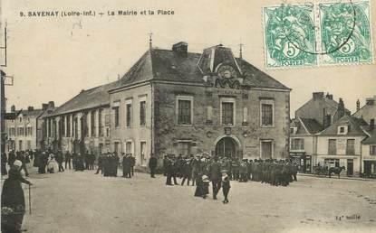 """/ CPA FRANCE 44 """"Savenay, la place et la mairie"""""""