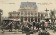 """50 Manche CPA FRANCE 50 """"Cherbourg, jour de marché"""""""