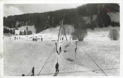 """/ CPSM FRANCE 74 """"Megève, sports d'hiver, le remonte pente"""""""