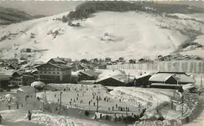 """/ CPSM FRANCE 74 """"Megève, la patinoire, le casino et les champs de neige du Jaillet"""""""