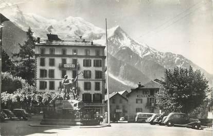 """/ CPSM FRANCE 74 """"Chamonix Mont Blanc Place de Saussure"""""""