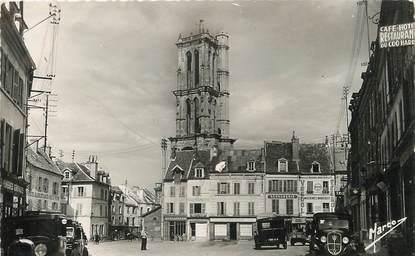 """/ CPSM FRANCE 78 """"Mantes Gassicourt, la tour Saint Maclou, place du Marché aux Blés"""""""