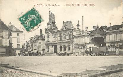 """/ CPA FRANCE 78 """"Meulan, place de l'hôtel de ville"""""""