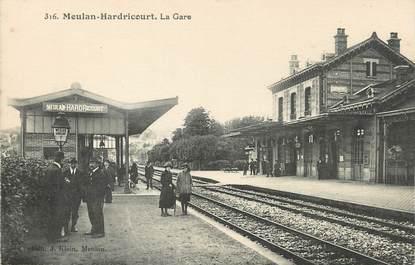 "/ CPA FRANCE 78 ""Meulan Hardricourt, la gare"""
