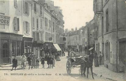 "/ CPA FRANCE 78 ""Meulan, la rue basse"""