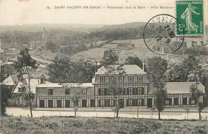 "/ CPA FRANCE 76 ""Saint Valéry en Caux, Panorama vers la gare"""
