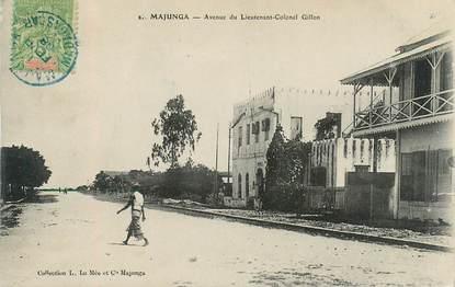 "CPA  MADAGASCAR ""Majunga, avenue du Lieutenant Colonel Gillon"""