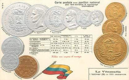 CPA VENEZUELA / Représentation Monnaie