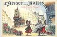 """/ CPSM FRANCE 75001 """"Paris, l'Alsace aux Halles"""" / BRASSERIE"""