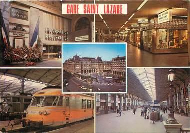 """/ CPSM FRANCE 75008 """"Paris, la gare Saint Lazare"""""""