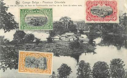 """CPA CONGO BELGE """"la rive du Congo, en face de Pouthiersville"""""""