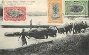 """Afrique CPA CONGO BELGE """"les éléphants du poste de Api au bain"""""""