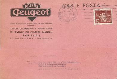 """/ CPSM FRANCE 75016 """"Paris, aciers Geugeot"""""""