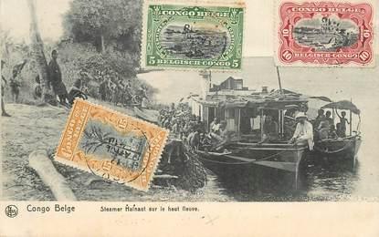 """CPA CONGO BELGE """"Steamer Hainaut sur le haut fleuve"""""""