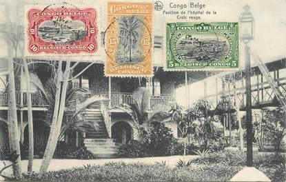 """CPA CONGO BELGE """"Pavillon de l'Hopital de la Croix Rouge"""""""