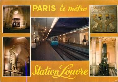 """/ CPSM FRANCE 75 """"Paris, station Louvre"""" / METRO"""