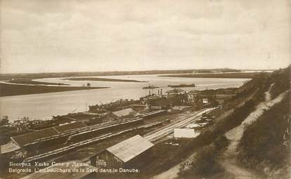 "CPA SERBIE ""Belgrade , l'embouchure de la Save dans le Danube"""