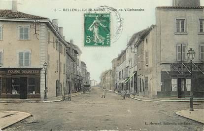 "CPA FRANCE 69 ""Belleville sur Saone, rue de Villefranche"""