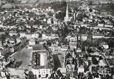 """/ CPSM FRANCE 53 """"Château Gontier, la ville et l'église Saint Rémy"""""""
