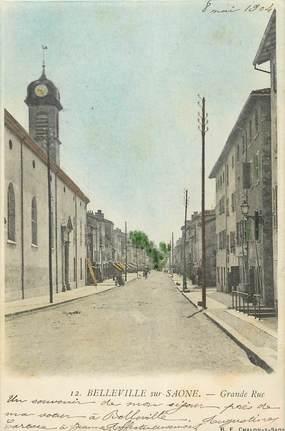 """CPA FRANCE 69 """"Belleville sur Saône, Grande Rue"""""""