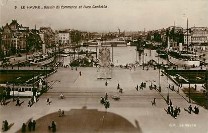 "CPSM FRANCE 76 ""Le Havre, bassin du commerce et place gambetta"""