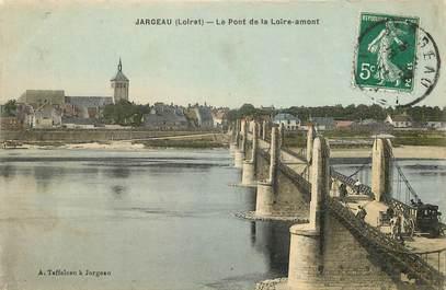 """CPA FRANCE 45 """"Jargeau, le pont de la Loire"""""""