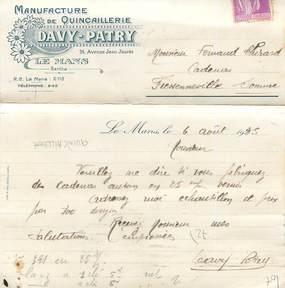 Carte postale publicitaire france 72 le mans - Quincaillerie le mans ...