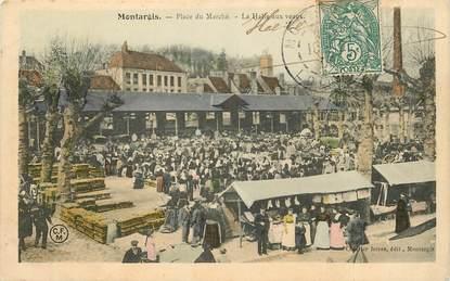 """CPA FRANCE 45 """"Montargis, Place du Marché"""", la Halle aux veaux"""