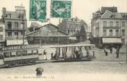 """76 Seine Maritime / CPA FRANCE 76 """"Eu, place de l'hôtel de ville"""" / TRAMWAY"""