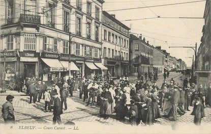 """/ CPA FRANCE 76 """"Elbeuf, Cours Carnot """""""