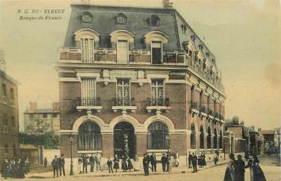 """/ CPA FRANCE 76 """"Elbeuf, banque de France """""""