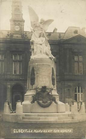 """/ CARTE PHOTO FRANCE 76 """"Elbeuf, le monument aux morts"""""""