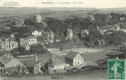 """/ CPA FRANCE 76 """"Veulettes, vue générale, les villas"""""""