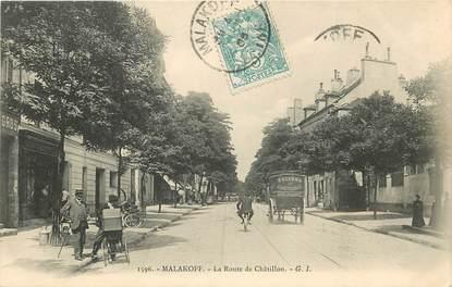 "CPA FRANCE 92 ""Malakoff, la Route de Châtillon"""