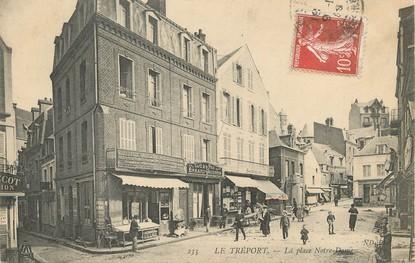 """/ CPA FRANCE 76 """"Le Tréport, la place Notre Dame"""""""