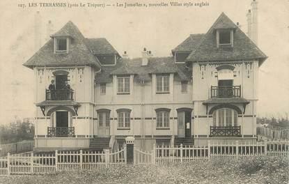 """/ CPA FRANCE 76 """"Le Tréport, Les Terrasses, les Jumelles"""""""
