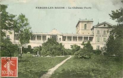 """CPA FRANCE 71 """"Farges les Macon, le Château"""""""