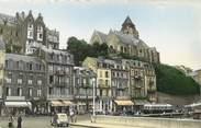 """76 Seine Maritime / CPSM FRANCE 76 """"Le Tréport, les quais et route de Saint Valéry"""""""