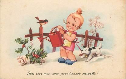"""CPA ILLUSTRATEUR BRANT """"Enfant et son chien"""""""