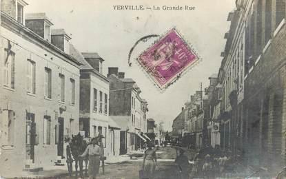 "/ CARTE PHOTO FRANCE 76  ""Yerville, la grande rue """